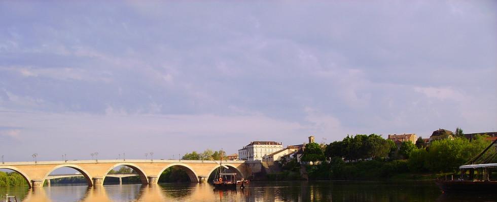Le pont de la ville Bergerac