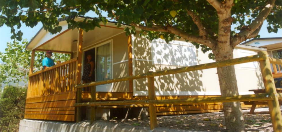 Mobile home dans un camping